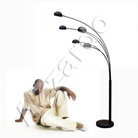 lampa podłogowa PALP czarna BIG LED GRATIS