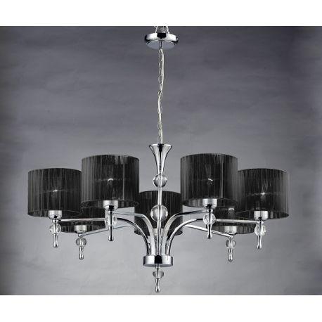 lampa wisząca IMPRESS 7 BIG czarna ŻARÓWKI LED GRATIS!