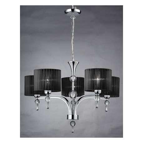 lampa wisząca IMPRESS 5 czarna ŻARÓWKI LED GRATIS!
