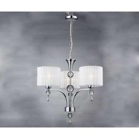 lampa wisząca IMPRESS 3 biała ŻARÓWKI LED GRATIS!