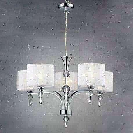 lampa wisząca IMPRESS 5 biała ŻARÓWKI LED GRATIS!