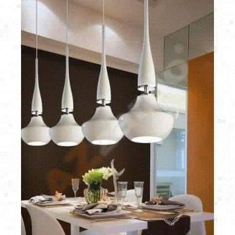 lampa wisząca TASOS 4 biała ŻARÓWKI LED GRATIS!