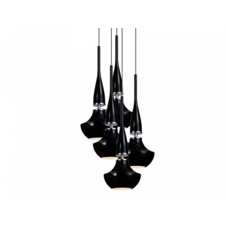 lampa wisząca TASOS 5 czarna ŻARÓWKI LED GRATIS!