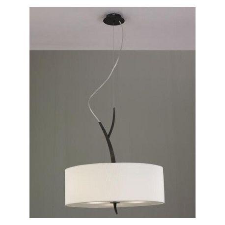 lampa wisząca EVE 3L antracyt z kremowym kloszem