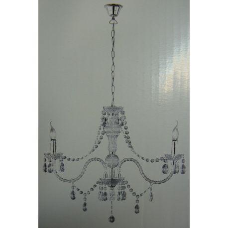 lampa wisząca LUSTER 2xE14 akryl przezroczysty OD RĘKI