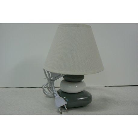 lampa stołowa KARLA szara - OD RĘKI