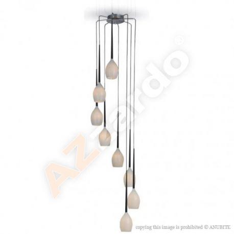 lampa wisząca IZZA 8 biała ŻARÓWKI LED GRATIS!