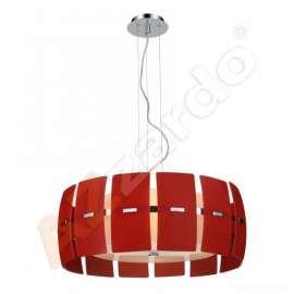 lampa wisząca TAURUS czerwona ŻARÓWKI LED GRATIS!