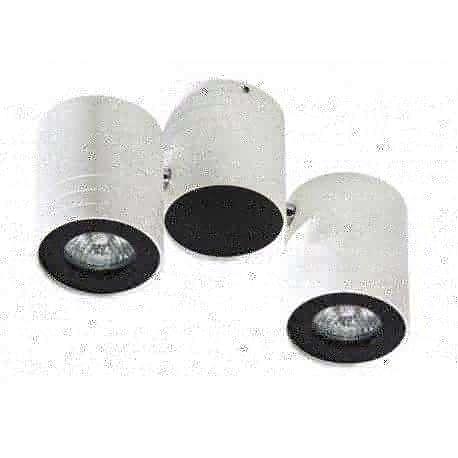lampa sufitowa LALO 2 biały/czarny ŻARÓWKI LED GRATIS!