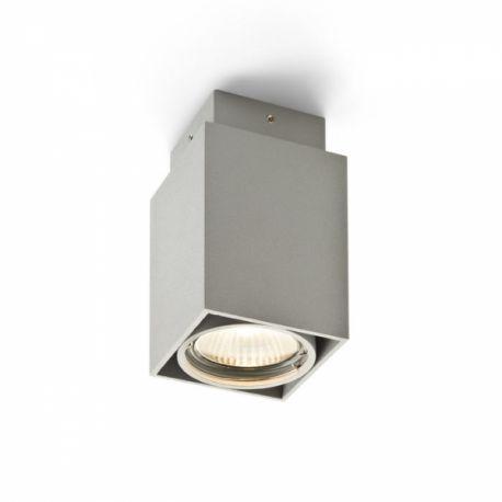 lampa sufitowa EX GU10 kwadrat srebrnoszara