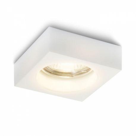 oczko BIANCA kwadrat białe szkło