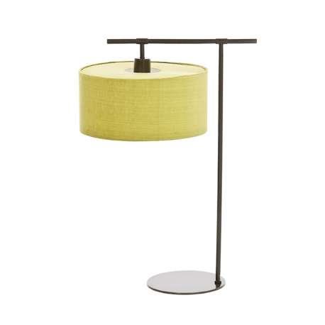 lampa stołowa BALANCE + limonkowy abażur HQ/CY33 LIMEPR3 - ŻARÓWKA LED GRATIS!