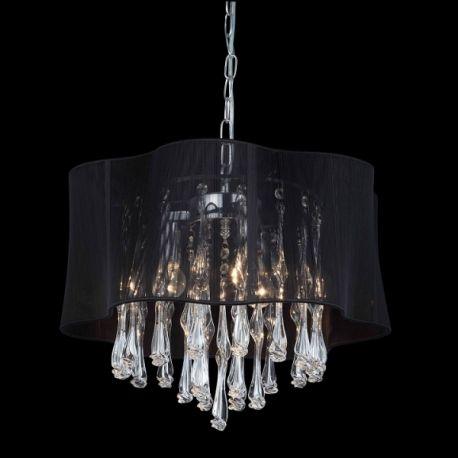 lampa wisząca CALI duża czarna - BZL