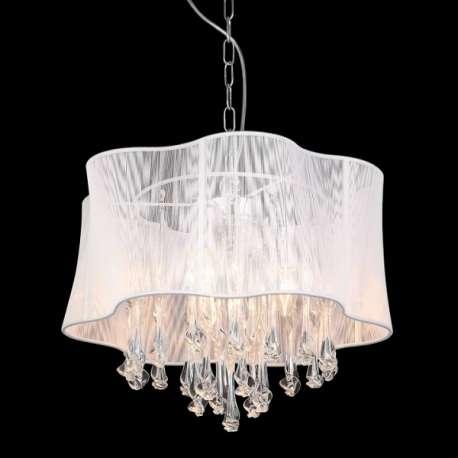 lampa wisząca CALI duża biała - BZL