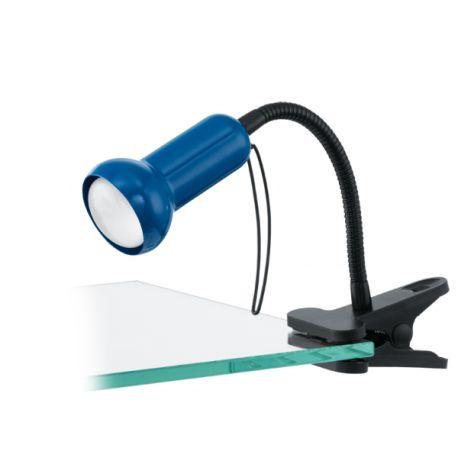 lampa na klip FABIO niebieski ŻARÓWKA LED GRATIS!