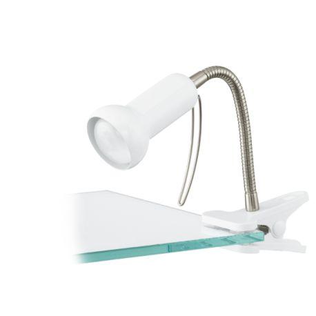 lampa na klip FABIO biały