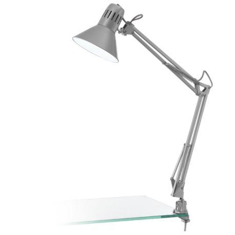 lampa biurkowa FIRMO srebrny ŻARÓWKA LED GRATIS!