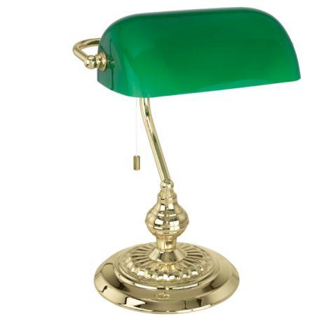 lampa stołowa BANKER mosiądz PROMOCJA