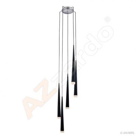 lampa wisząca STYLO 5 czarna