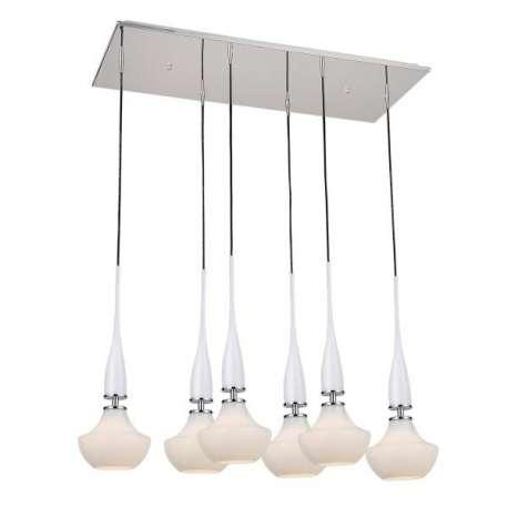 lampa wisząca TASOS 6 biała ŻARÓWKI LED GRATIS!