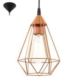 lampa wisząca 1x60W TARBES miedziana