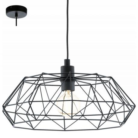 lampa wisząca CARLTON 2 - czarna ŻARÓWKA LED GRATIS!