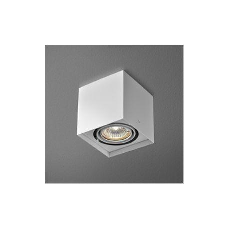 lampa sufitowa SQUARES 50x1 ON 230V biały + żarówka PHILIPS LEDspot 6,5W - SZYBKA REALIZACJA!