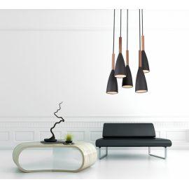 lampa wisząca SOFT V czarna